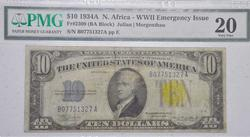 $10 1934A North Africa Emergency Silver Cert, VF20