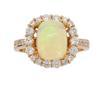 Ethiopian Opal and Diamond Ring