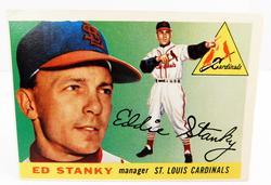1955 Ed Stanky Cardinal Manager Baseball Card