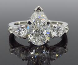 GIA Certified Pear Cut Engagement Ring