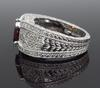 Garnet and Diamond Vintage Inspired Ring