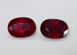 Fine Natural Ruby Pair - 2.10 cts.