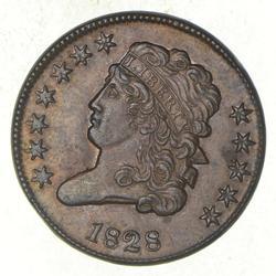 1828 Classic Head Half Cent - 12 Stars