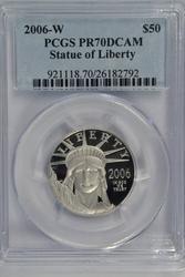 Flawless 2006-W PCGS PR70DCAM $50 Platinum Eagle