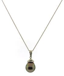 Amazing Tahitian Pearl and Pendant Necklace