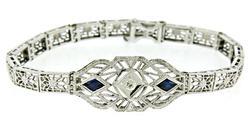 Vintage Diamond and Synthetic Sapphire Bracelet