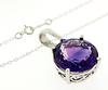 Flashy 7.75ct Amethyst Pendant Necklace