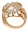 Fantastic 1.44ct Morganite Diamond Blossom Top Ring