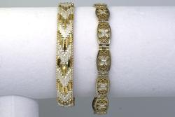 Set of 2 Classic Vermeil Bracelets