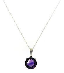 Flashy 7.75ct Amethyst Pendant Necklace
