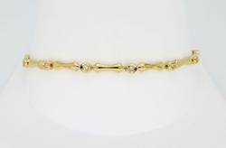 Bar Link Diamond Tennis Bracelet