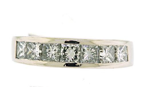 Platinum 1.75ct Princess Cut Band Ring