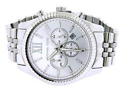 Micheal Kors Lexington Chronograph Silver Tone Watch