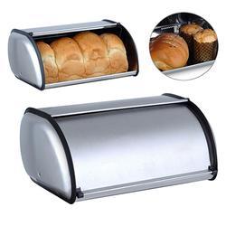 34x21x14.5cm Stainless Steel Bread Box Storage