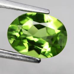 Glittering 1.27ct lime green Peridot