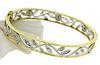 Lovely Diamond Flower Bangle Bracelet