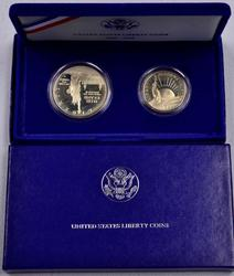 1986 Liberty Commem Proof 2 Coin