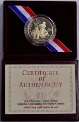 1995 U.S. Olympic Coins of the Altlanta 100th Commem Proof Half Dollar