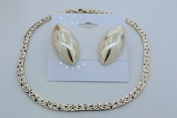 Sterling Almond-Shaped Jewelry & Anklet