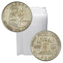 90% Silver Franklin Halves Roll 20ct