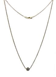 Charming Bezel Set Diamond Necklace