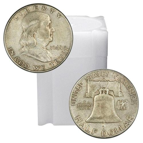 90% Silver Franklin Halves Roll 20ct