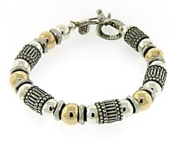 Sterling Silver Silpada Beaded Bracelet