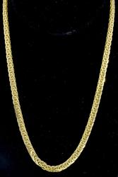 Tightly Woven Chain Necklace in 14k Yellow Gold