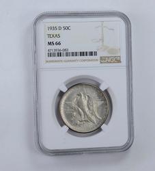 MS66 1935-D Texas Centennial Commemorative Half Dollar - Graded NGC