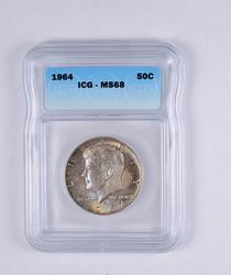 MS68 1964 Kennedy Half Dollar - Graded ICG