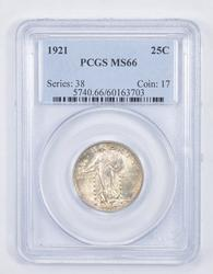 MS66 1921 Standing Liberty Quarter - Graded PCGS
