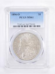 MS61 1896-O Morgan Silver Dollar - Graded PCGS