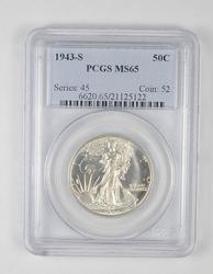 MS65 1943-S Walking Liberty Half Dollar - Graded PCGS