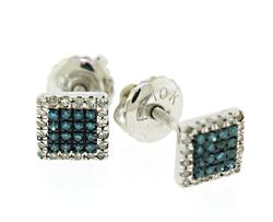 Classic Blue and White Diamond Earrings