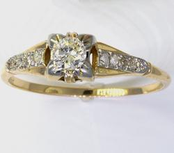 1/4 CT Vintage Diamond Ring in Gold