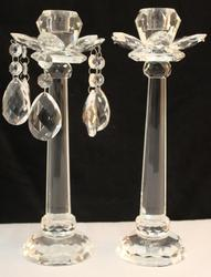 Crystal Candleholder Chandelier Pair