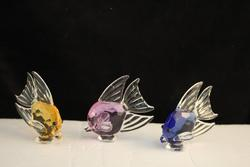Crystal Fish Family - Set of 3