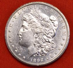 Brilliant Near Unc 1892-CC Morgan Dollar