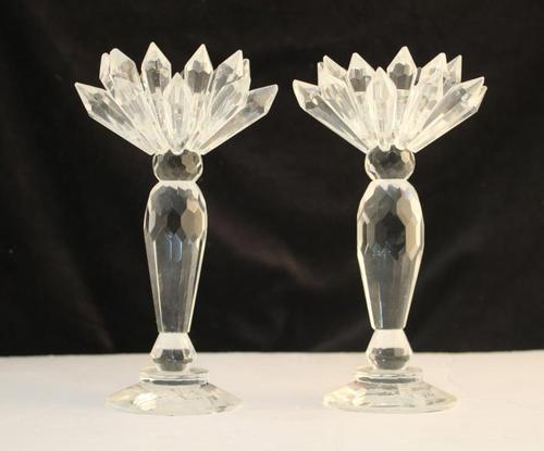 Crystal Candleholder Pair