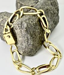 Classic Men's 18K Heavy Link Bracelet