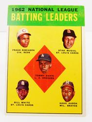 1962 National League Batting Leaders #1  Baseball Card
