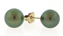 8.5mm Tahitian Pearl Earrings