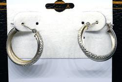 White Gold Interlocked Hoop Earrings
