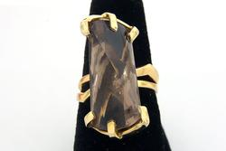 Bold Smoky Quartz Ring in Gold