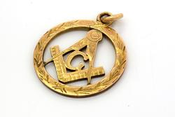 Gold Masonic Pendant