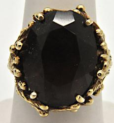 LADIES 9.00 CARAT SMOKY QUARTZ RING.