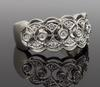 14K White Gold Filigree Detailed Diamond Ring