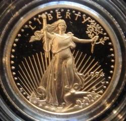 1994 $5 Frosty Cameo Gold Eagle