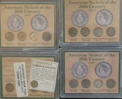 4 American Nickels Of The 20th Century Sets