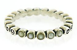 Pandora Pearl Swirl Ocean Treasure Ring